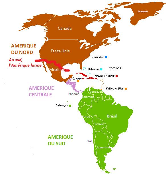 Carte Amerique Puissance Du Nord Affirmation Du Sud.Theme Iii L Amerique Puissance Du Nord Affirmation Du
